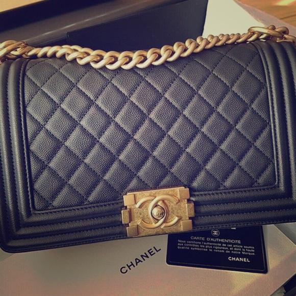 CHANEL Handbags - Chanel Le Boy Old Medium GHW Caviar leather 10/10
